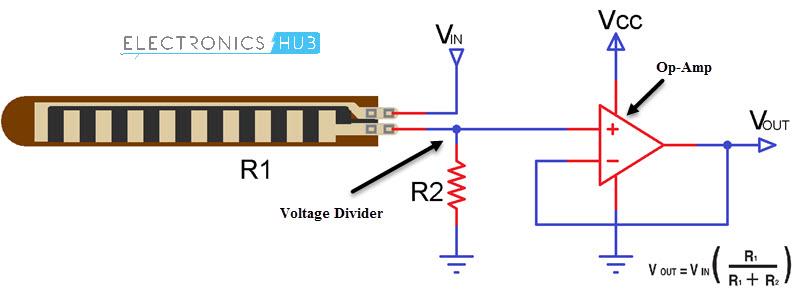 Interfacing Flex Sensor with Arduino Basic Flex Sensor Circuit