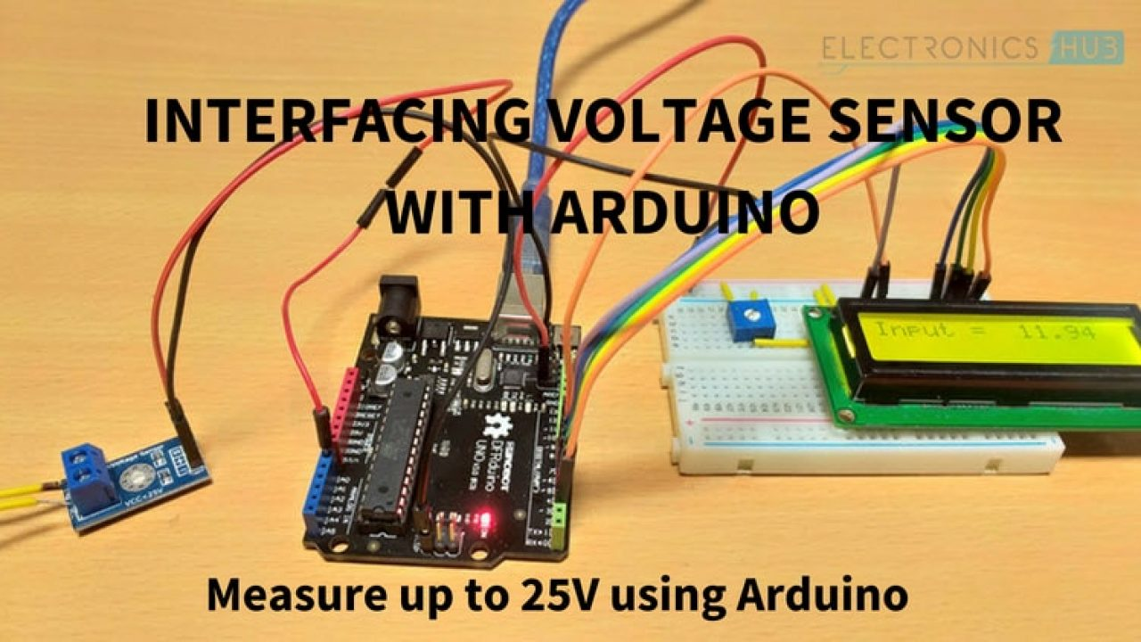 Interfacing Voltage Sensor with Arduino - Measure up to 25V using