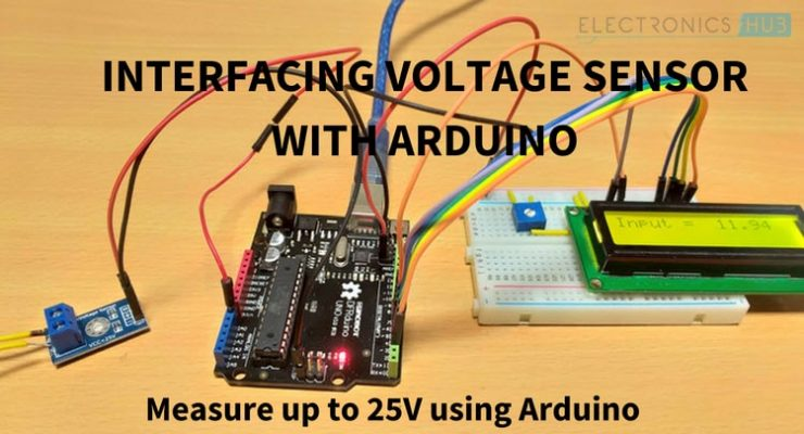 Interfacing Voltage Sensor with Arduino – Measure up to 25V using Arduino