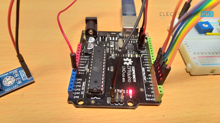 Interfacing Voltage Sensor with Arduino Image 3