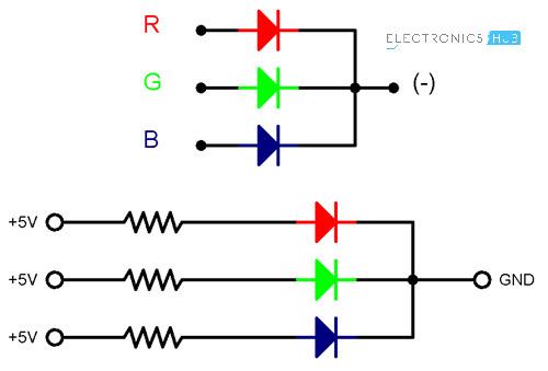RGB LED with Arduino Common Cathode RGB LED