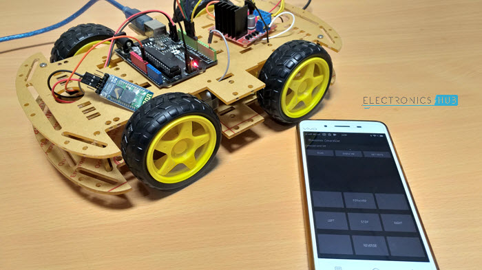 Bluetooth Controlled Robot using Arduino - using Arduino, HC