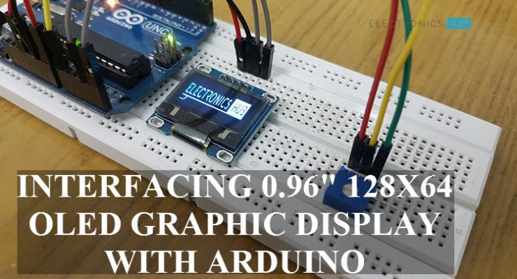 Interfacing 128x64 OLED Graphic Display with Arduino Featured Image