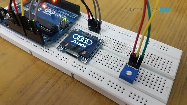 Interfacing 128x64 OLED Graphic Display with Arduino Logo Display