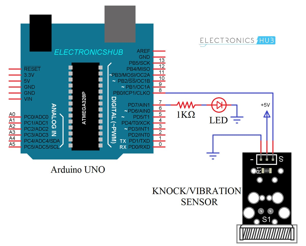 Interfacing Knock Sensor with Arduino (Vibration/Tap Sensor ...