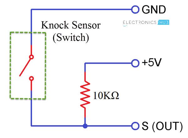 Interfacing Knock Sensor with Arduino Knock Sensor Internal Circuit