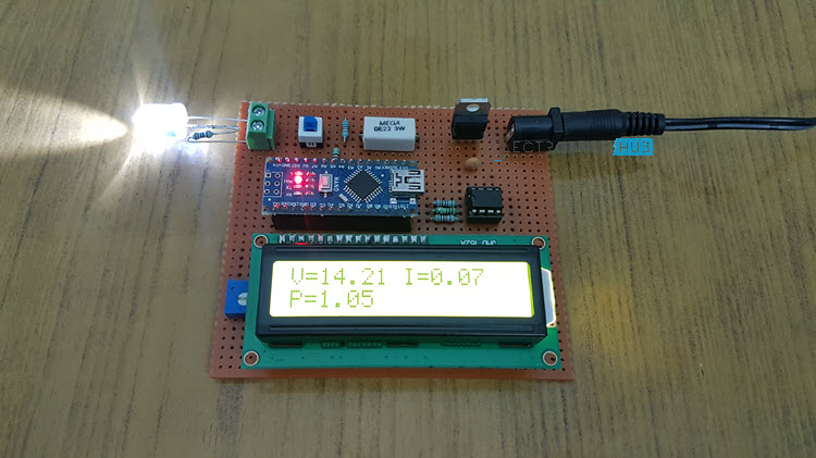 Arduino Wattmeter - Voltage, Current and Power Measurement