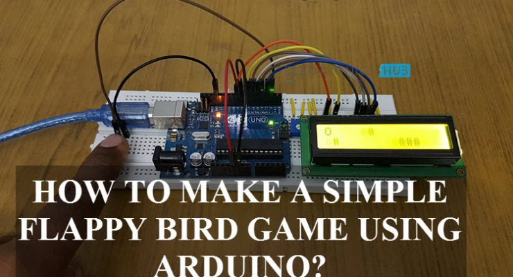 Flappy Bird Game using Arduino, 16×2 LCD & Push Button