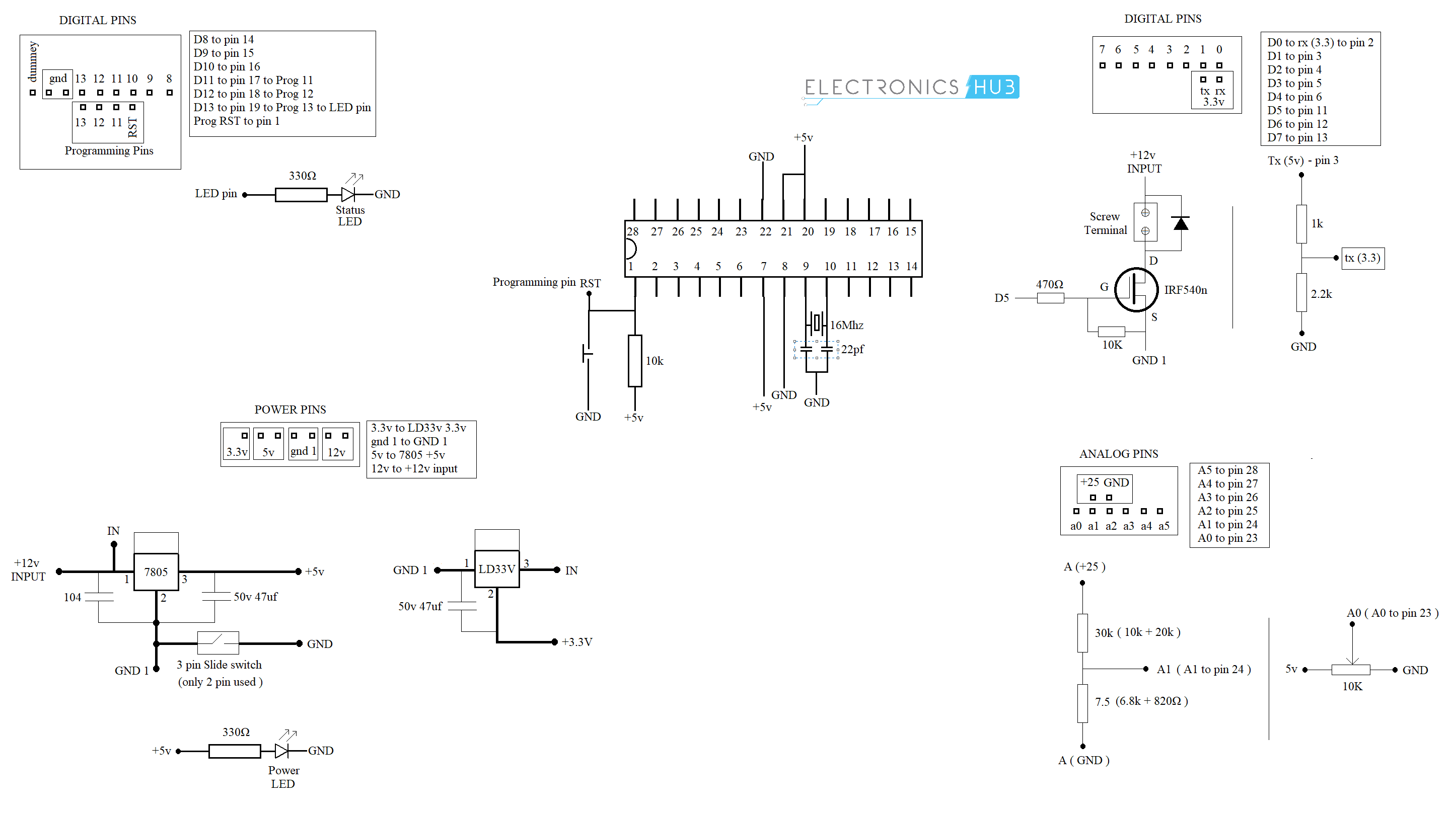 Make Your Own Arduino Board A Diy Tutorial Circuit Images How To Diagram