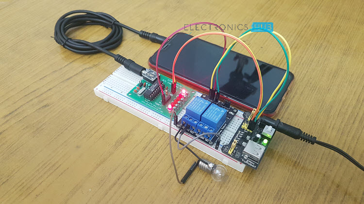 Mobile Controlled Home Appliances without Microcontroller Image 3