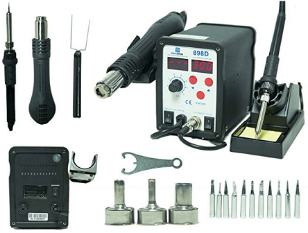 SMD Hot Air Rework Station & Soldering Iron