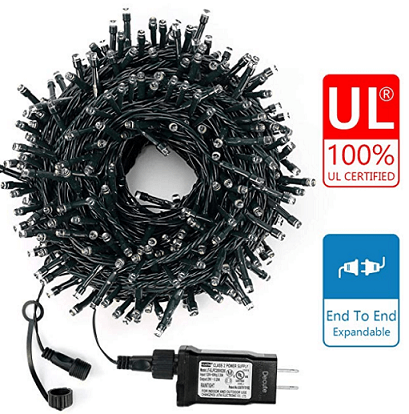 Decute Upgraded 105 Feet 300 LED Christmas String