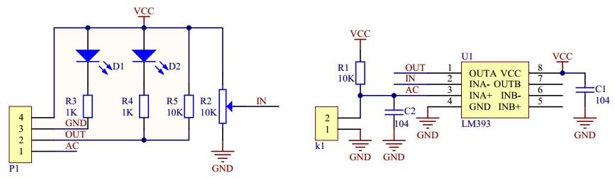 Interfacing Soil Moisture Sensor with Arduino Sensor Circuit Diagram
