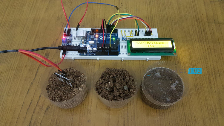 Interfacing Soil Moisture Sensor With Arduino