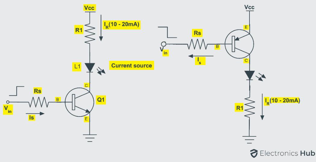 Transistors Driving LEDs