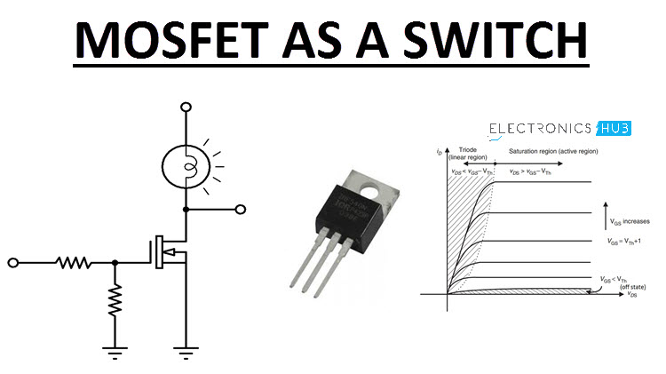 Analysis Of Mosfet As A Switch With Circuit Diagram