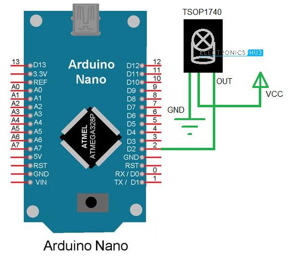 DIY Universal Remote using Arduino Receiver Circuit