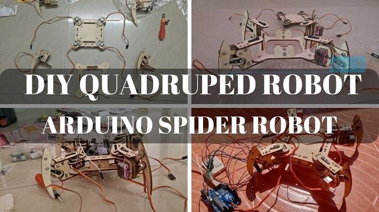 Quadruped Robot | Arduino Spider Robot | Working, Code