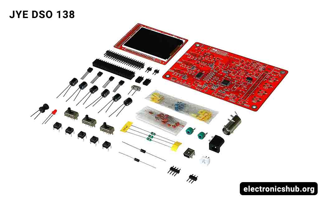 Oscilloscope Kit KKmoon 2.4 TFT Handheld Pocket-size Digital Oscilloscope Kit DIY Parts Electronic Learning Set 1Msps