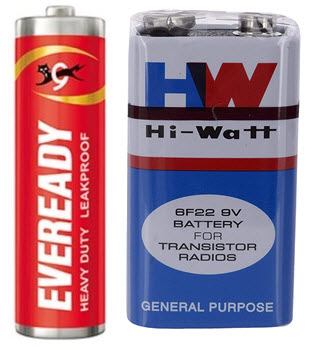 Types of Batteries Primary Batteries