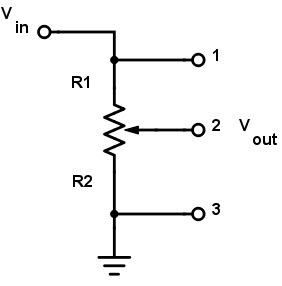 Circuit diviseur de tension utilisant un potentiomètre
