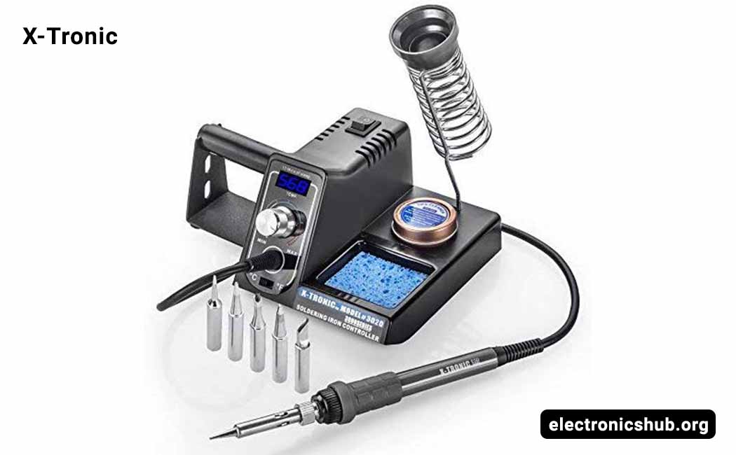 Soldering Station Solder Iron Kit Temperature Adjustable 6 Seconds Rapid Heating