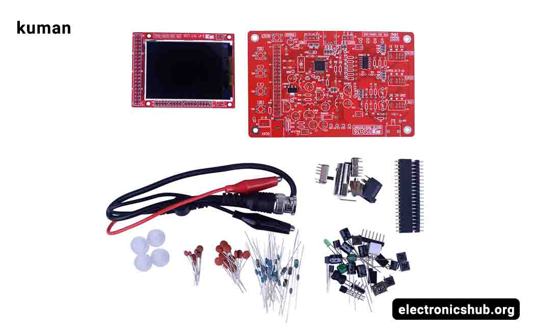 ICQUANZX Oscilloscope Kit 2.4 TFT Handheld Pocket-Size Digital Oscilloscope Kit DIY Parts SMD Soldered Electronic Learning Set 1Msps