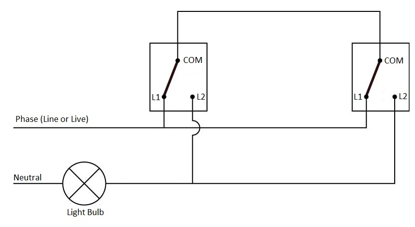 Simple Wiring Diagram For 3-Way Switch from www.electronicshub.org