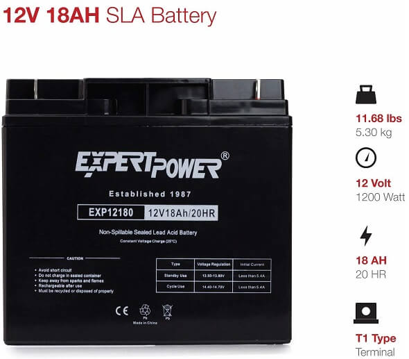 Expert Power EXP12180 Battery
