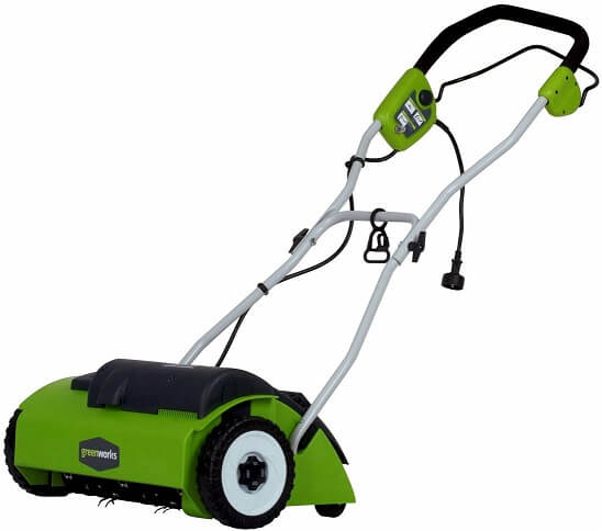 GreenWorks 27022 10 Amp 14 Corded Dethatcher / Scarifier Lawn Aerator
