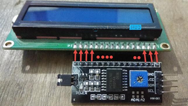 LCD I2C avec connexion LCD Arduino