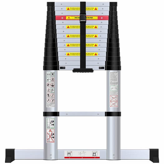 WolfWise 15.5FT Aluminum Telescoping Ladder