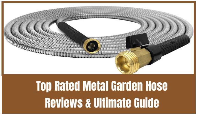 25 Metal Garden Hose Stainless Steel Garden Hose Heavy Duty Metal Water Hose Fle