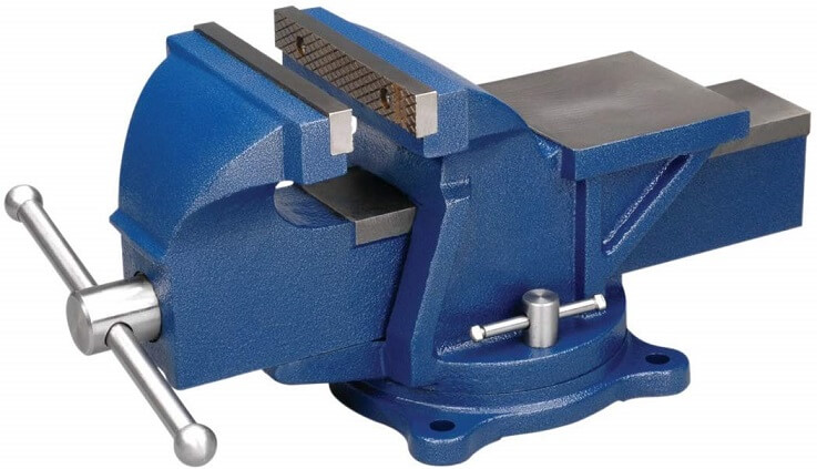 Bench Vice with 360 Degree Swivel Base 6 Inch Heavy Duty for Workshop and Workbench for Thread Sawing Milling Welding