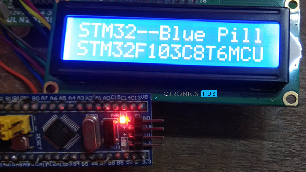 Interfacing 16X2 LCD with STM32 Blue Pill