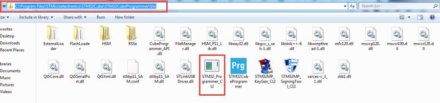 STM32CubeProgrammer Path Verify