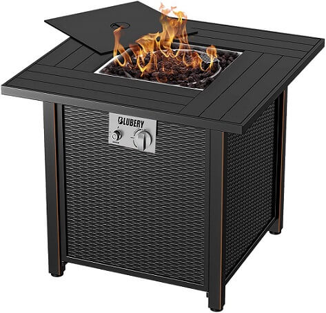 BLUBERY 30'' Propane Fire Pit Table