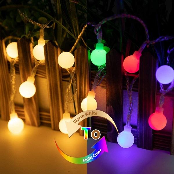Minetom LED Globe Ball String Lights