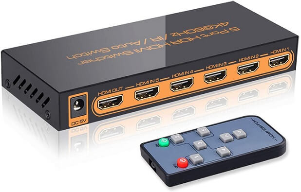 SkycropHD 5 in 1 Out 4Kx2K HDMI Auto Switcher