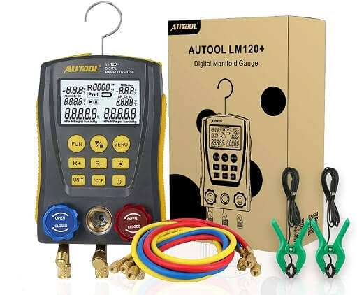 AUTOOL Digital Manifold Gauge Set