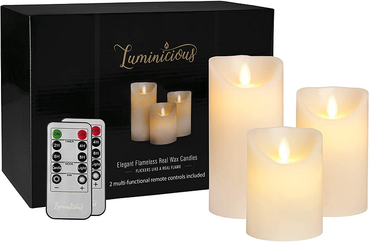 Flameless Candles Flickering LED
