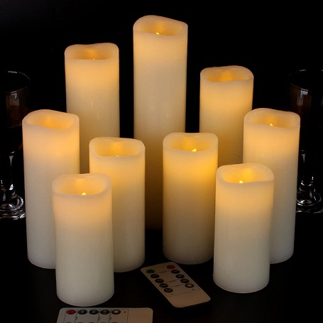 Vinkor Flameless Candles Battery