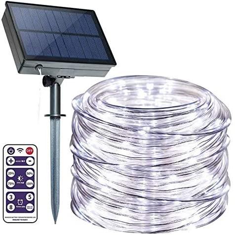 ANJAYLIA Solar Outdoor Rope Lights