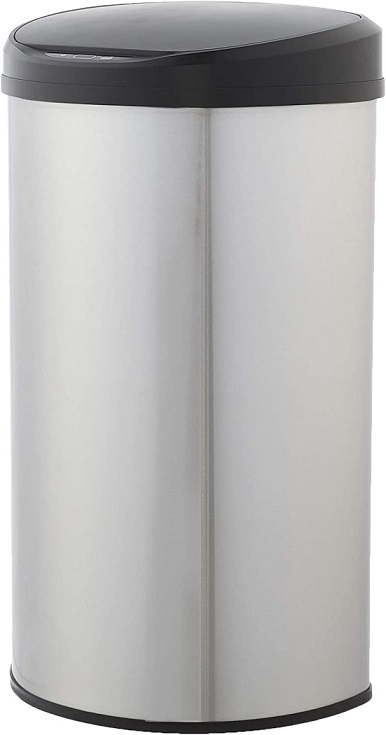 Amazon Basics Automatic Stainless Steel Trash Can