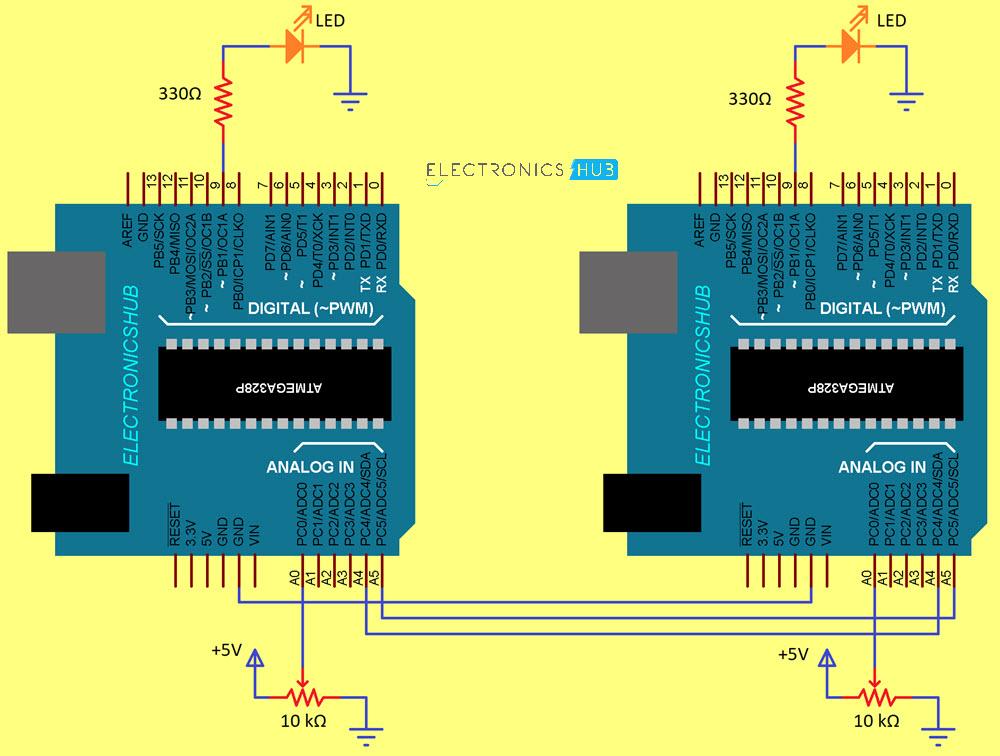 Arduino-I2C-Communication-Circuit