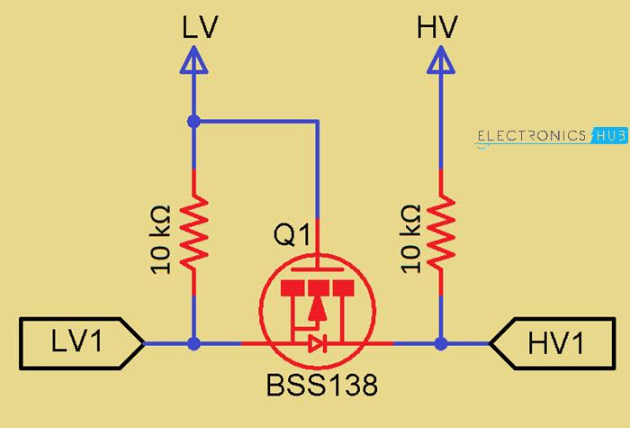 Bidirectional-Logic-Level-Converter-Schematic