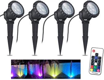 Color Changing LED Landscape Spotlights