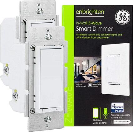 GE Enbrighten White Z-Wave Plus Smart Dimmer Switch