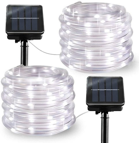 LiyuanQ Solar Outdoor Rope Lights