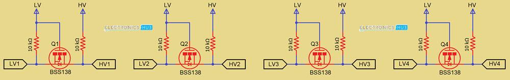 Logic-Level-Shifter-Module-Schematic
